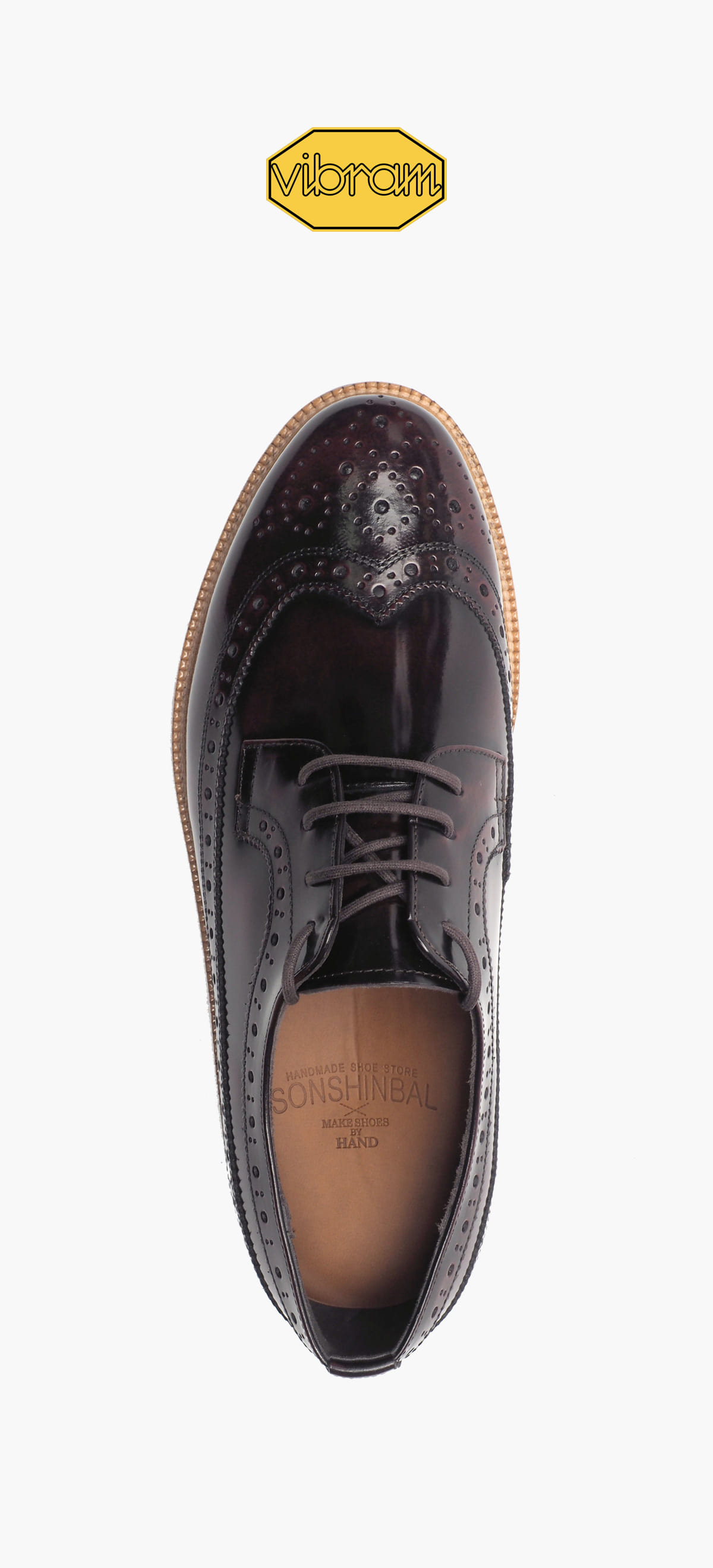 Wing Tip 0027-97 Wine Two-Tone