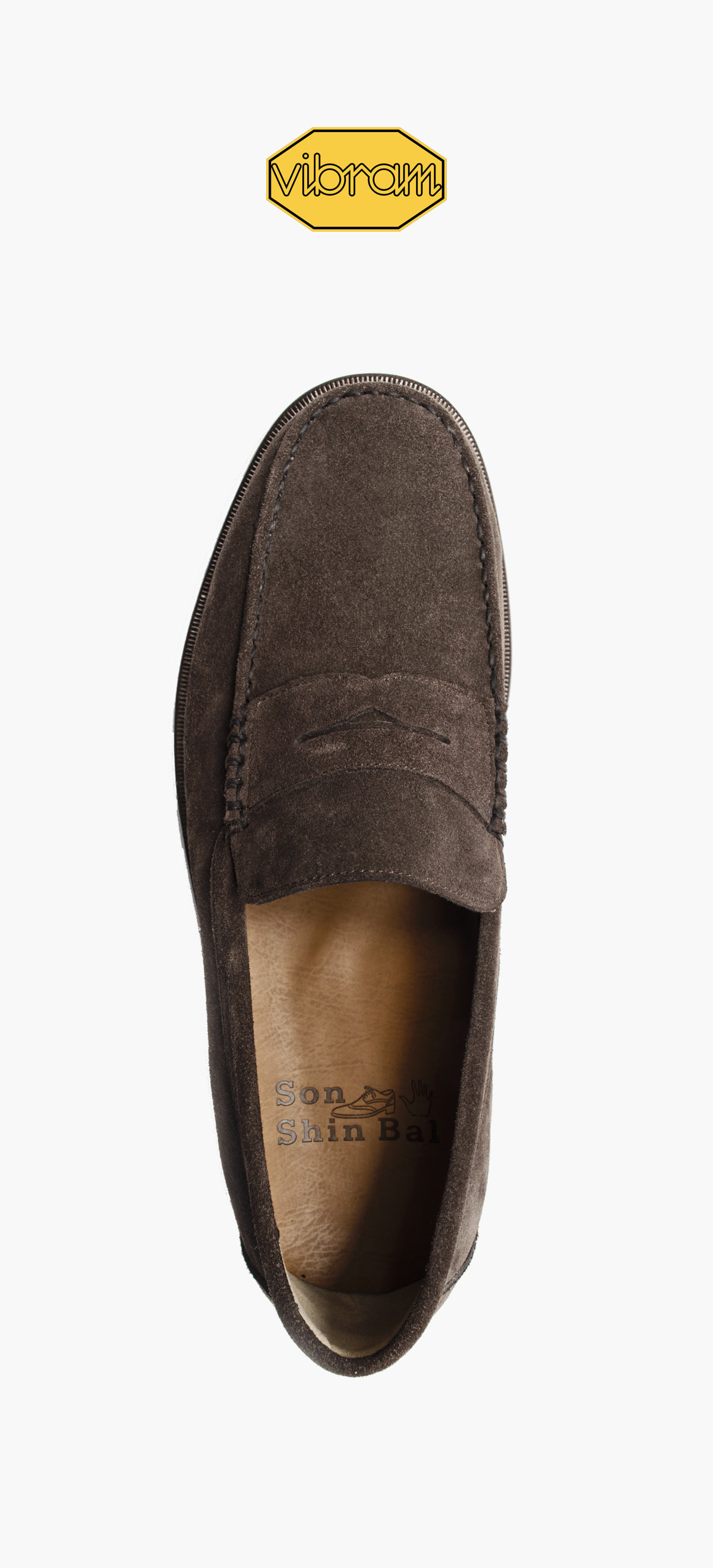 Penny Loafer 8012-01 Deep Brown Suede