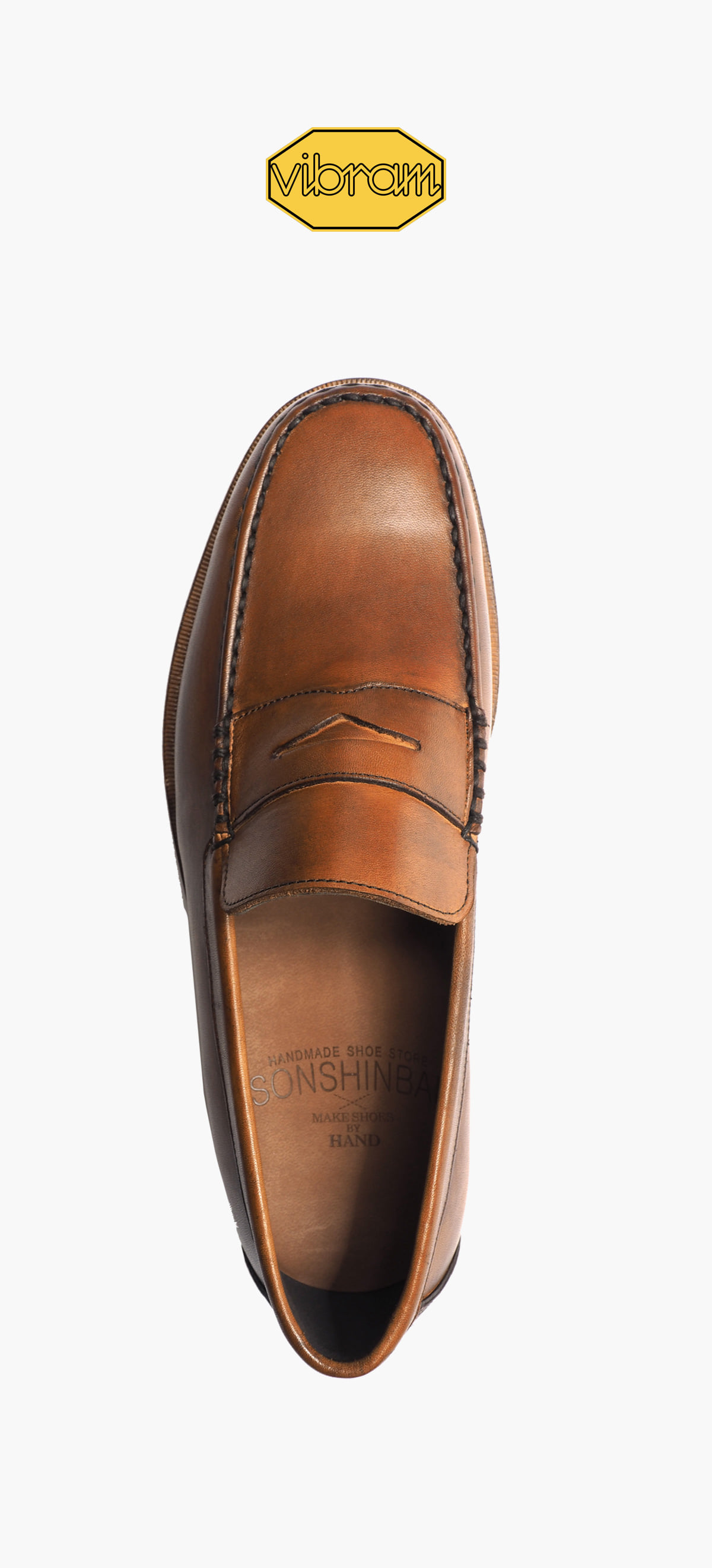 Penny Loafer 8012-34 Brown Tanning(Vibram Half Sole Add)