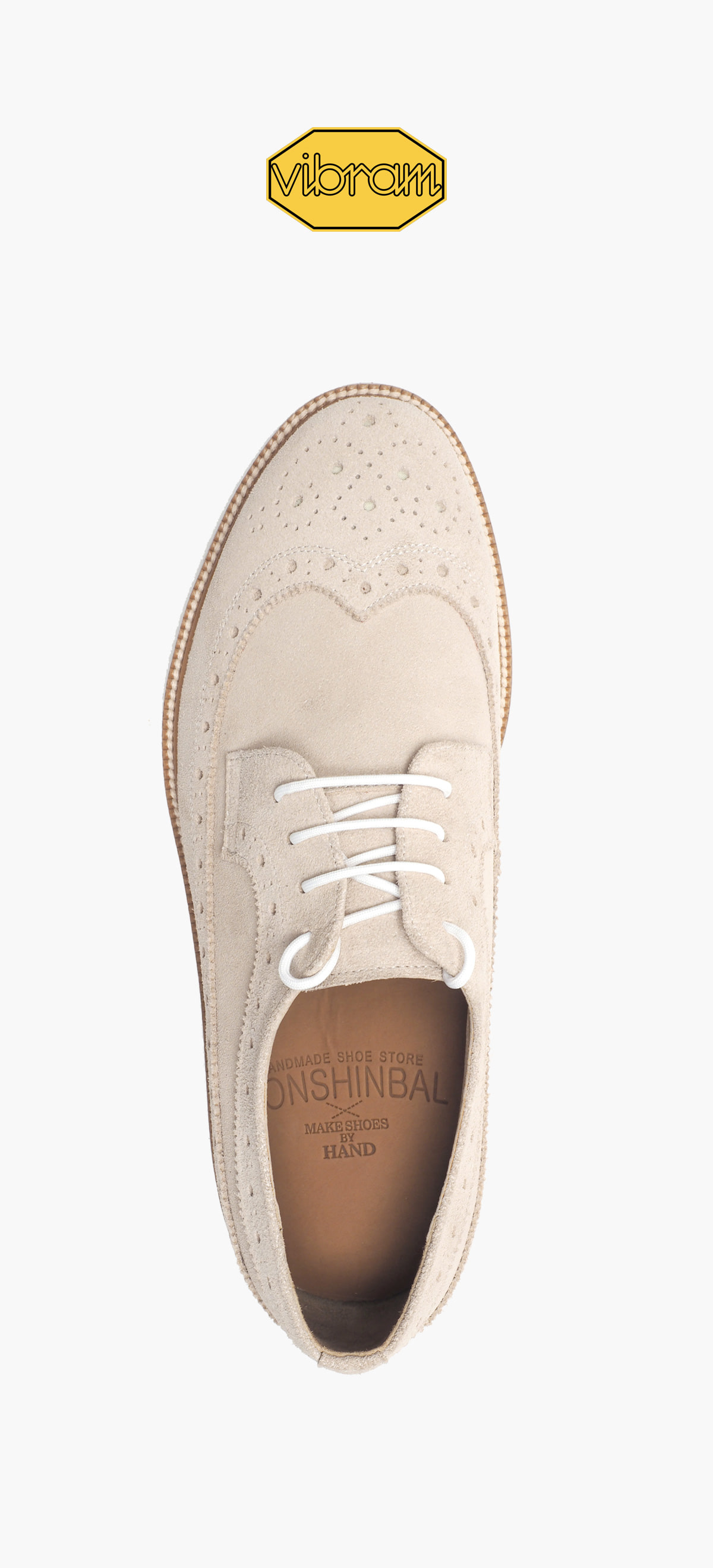 Wing Tip 0027-91 Ivory Suede