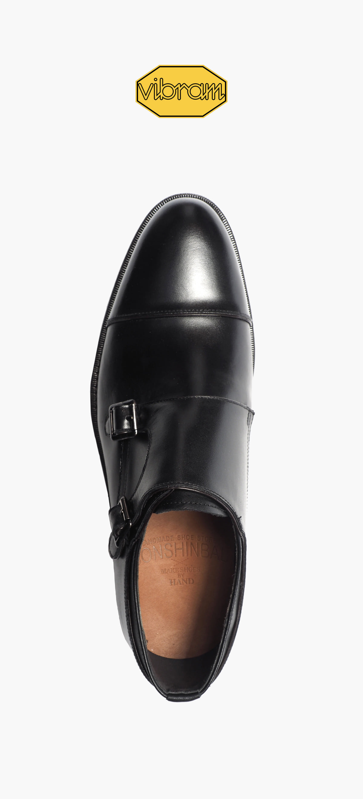 Monk Strap 2035-07 Black Kip