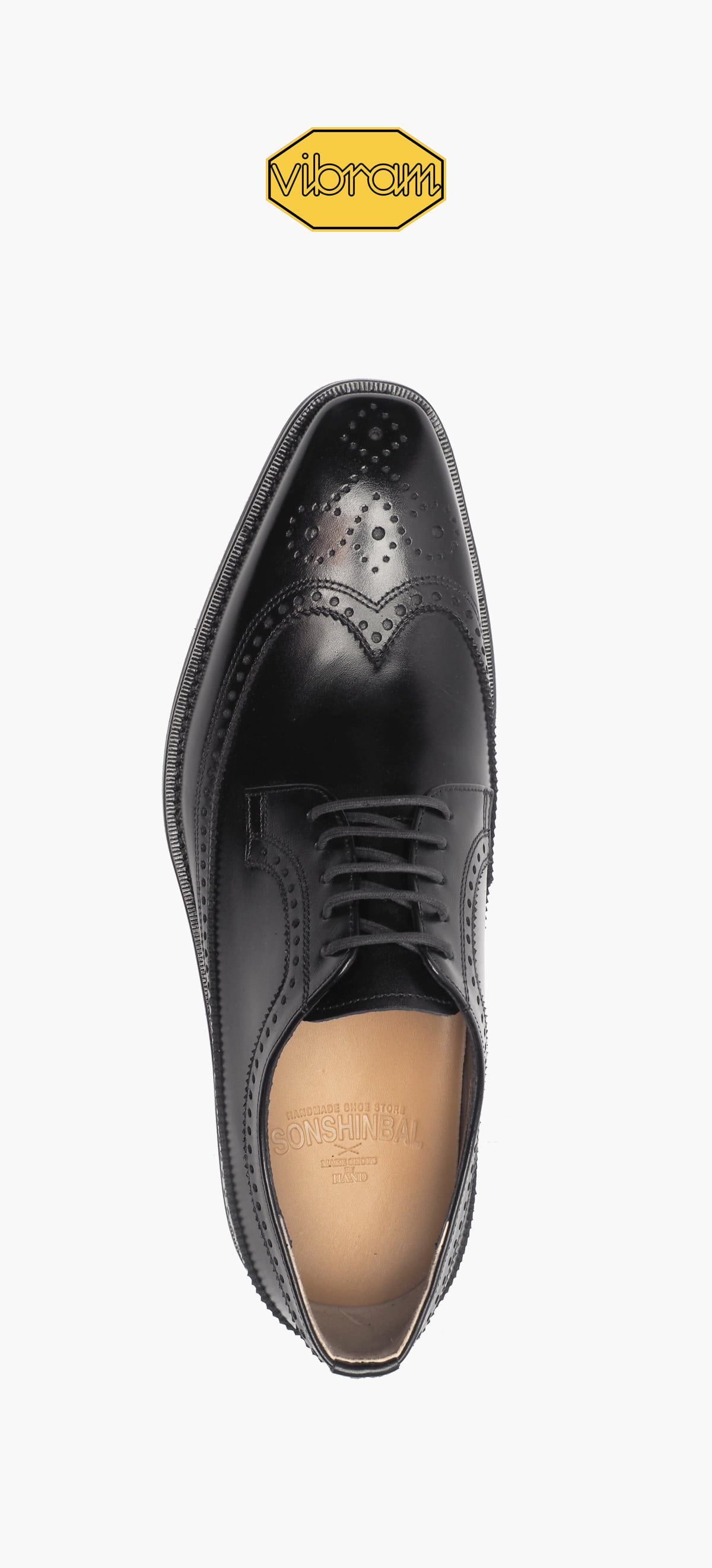 Wing Tip 8004-01-Black Kip