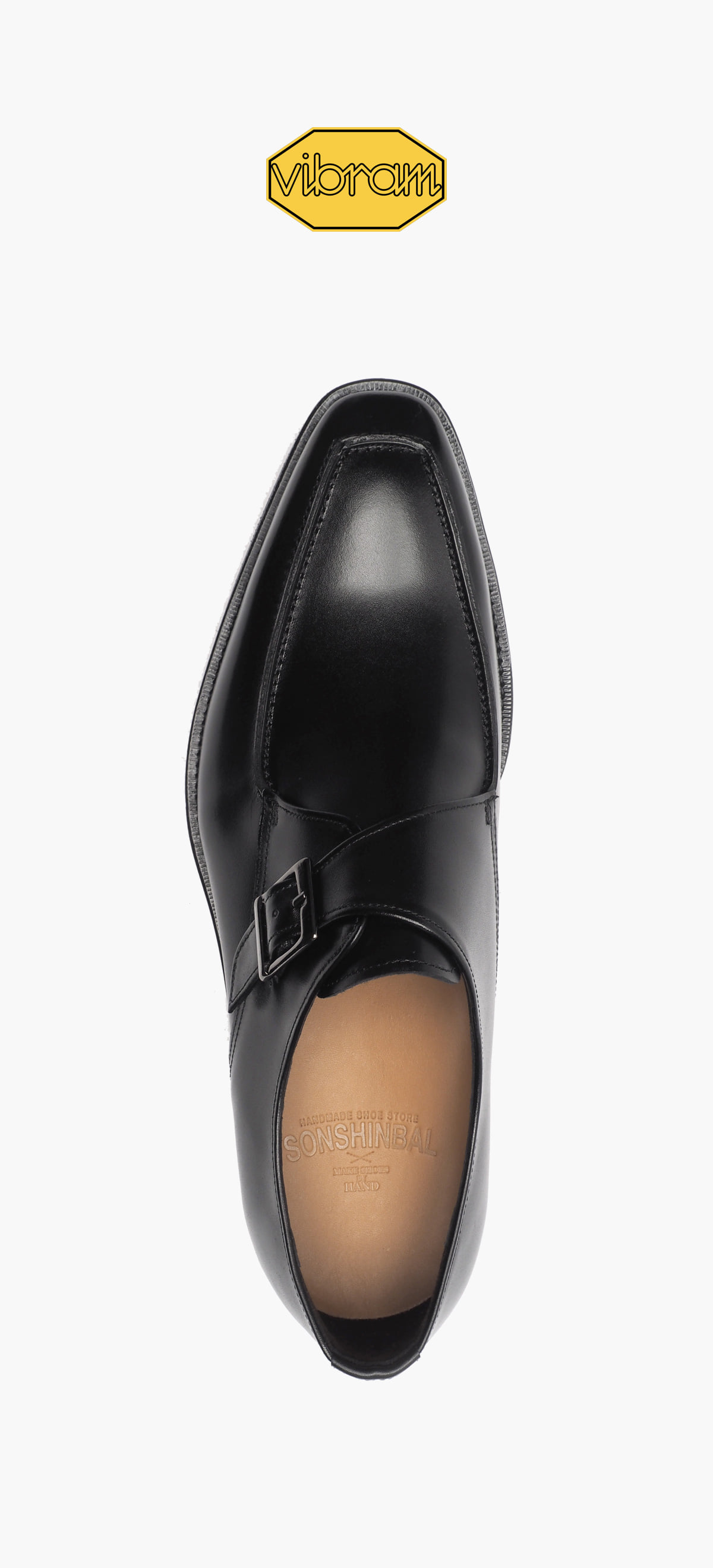 Monk Strap 4015-01-Black Kip