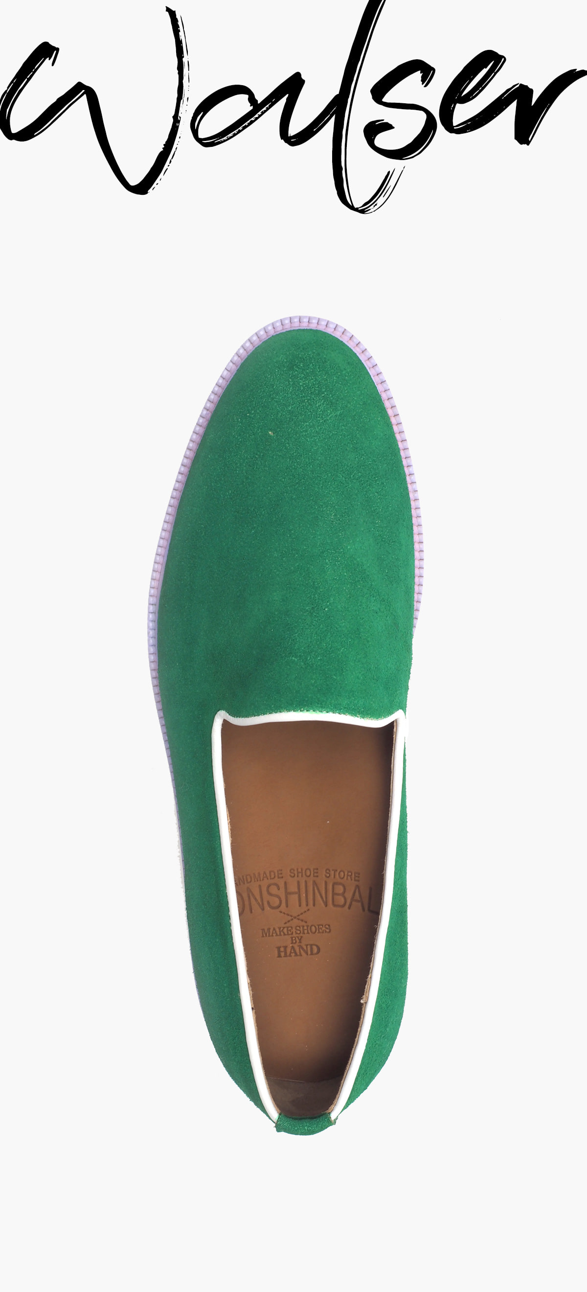 Slip On 2049-RW03 Paint Suede Green