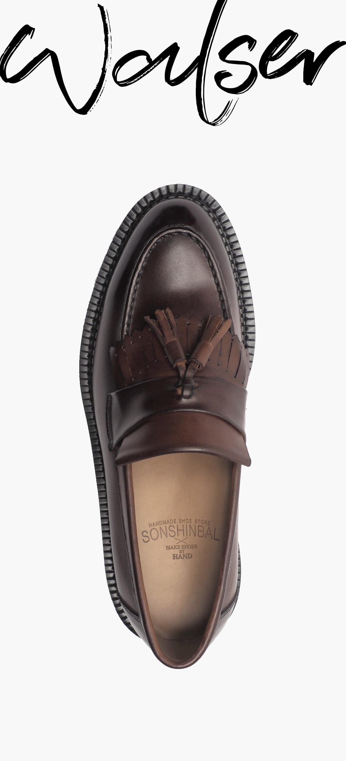Tassle Loafer 0070-RW03 Hand Peeling_Brown