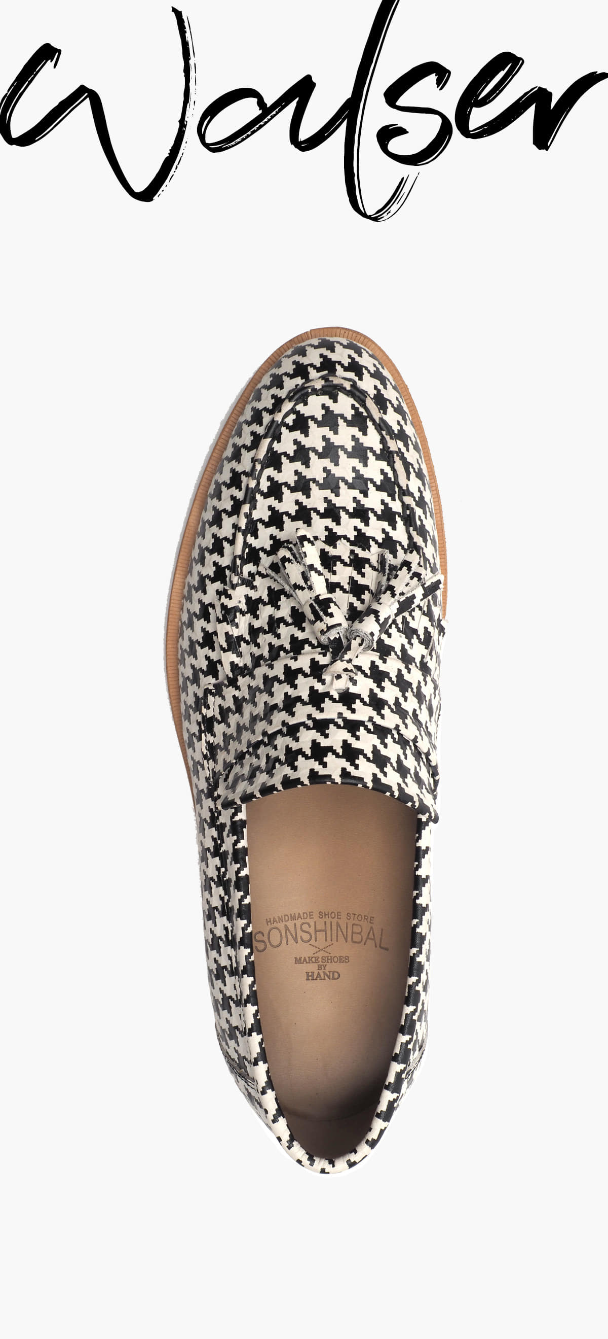 Tessle loafer 0070-RW04 Black & White Box