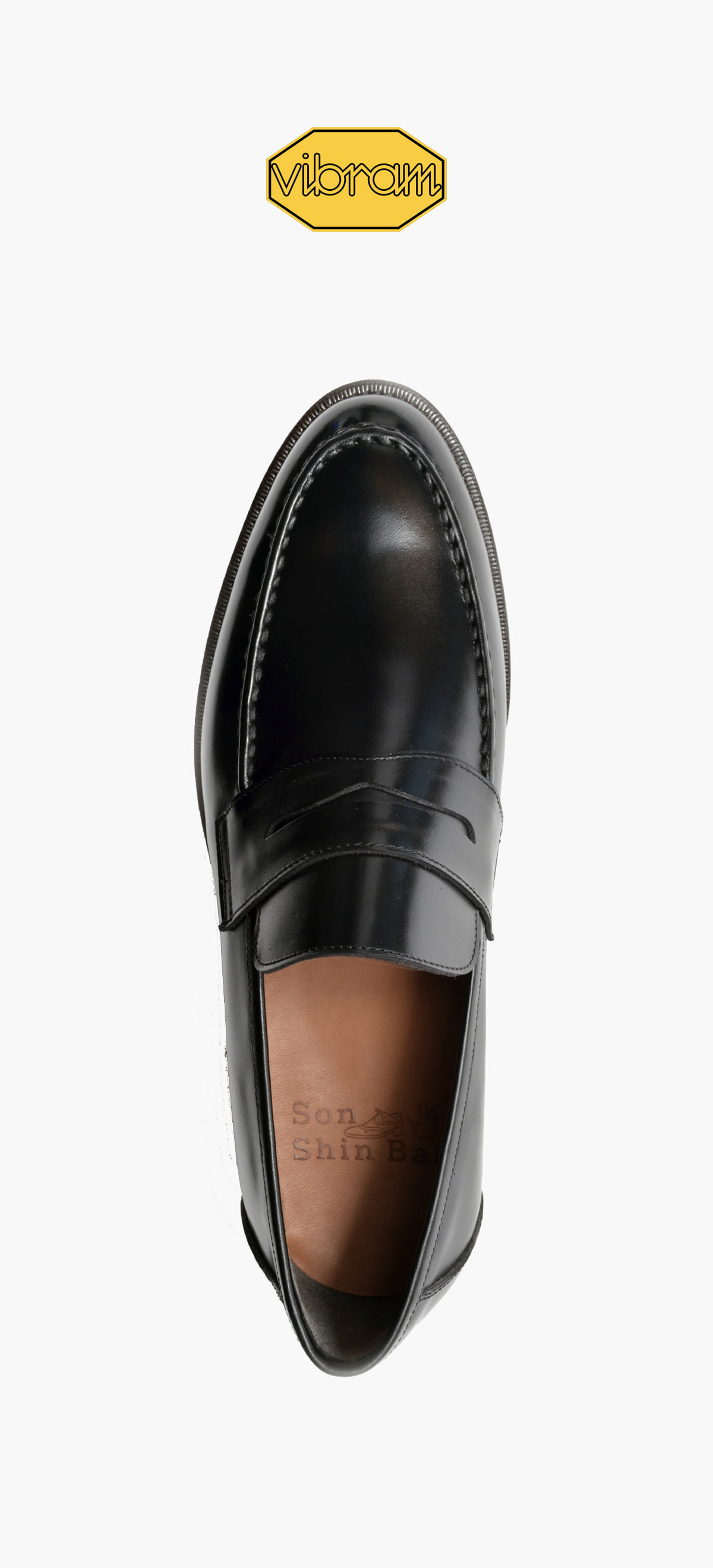 Penny Loafer 2028-10 Black Kip