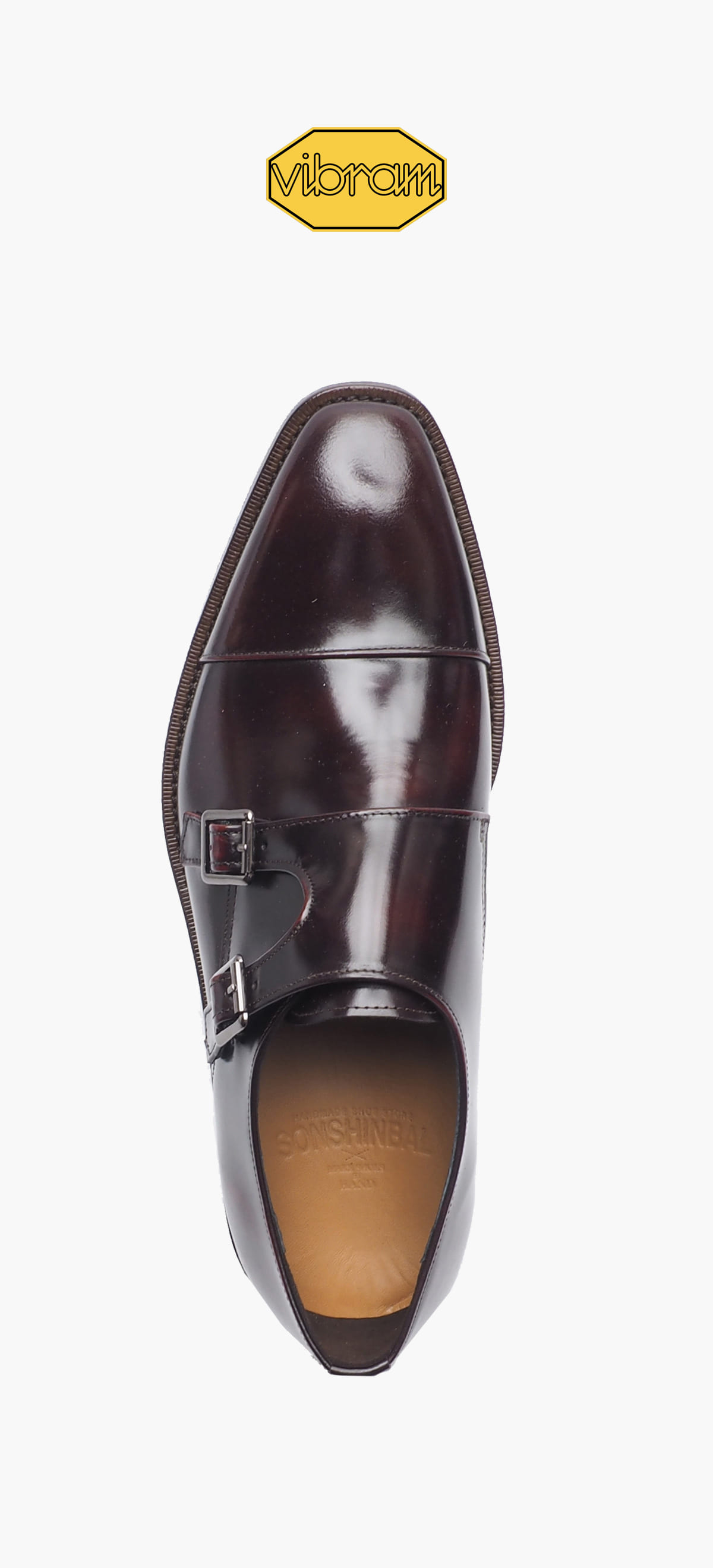 Monk Strap 8031-07 Wine Two-Tone