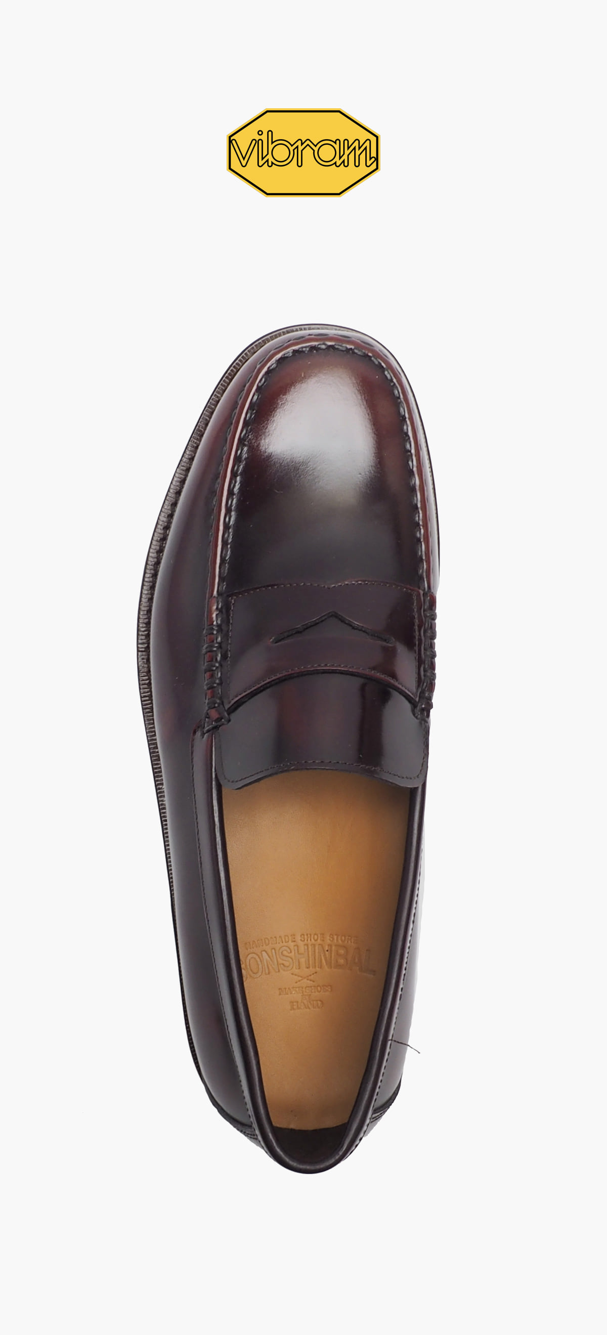 Penny Loafer 8012-17 Wine Two-Tone