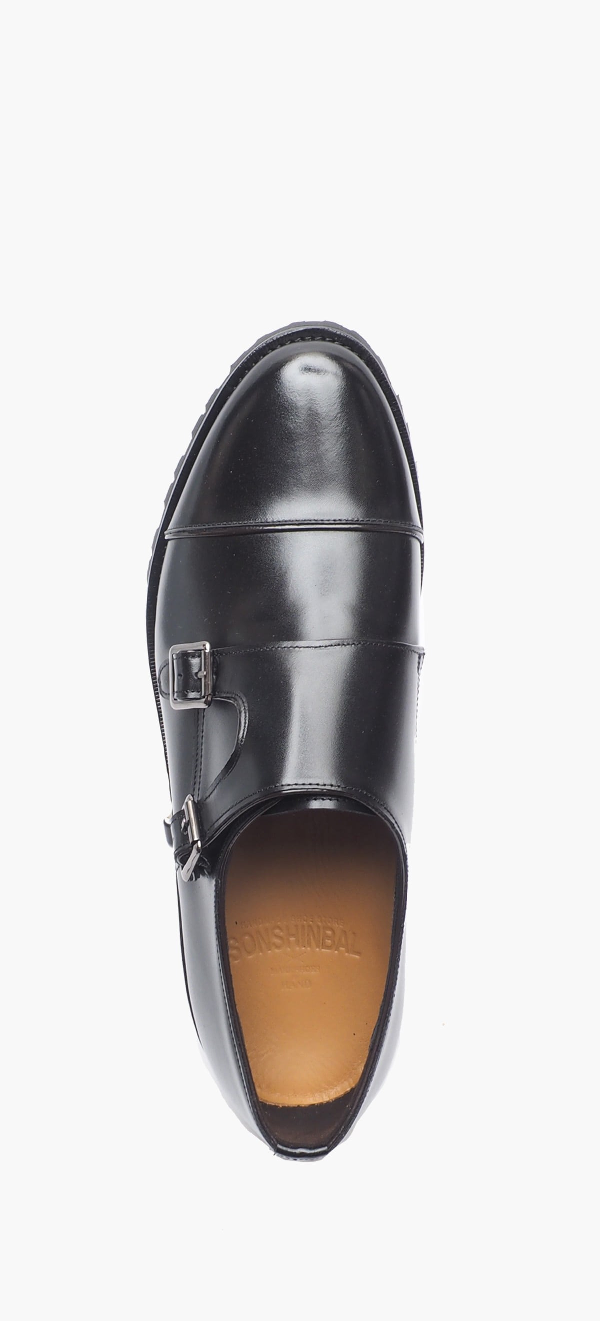 Monk Strap 2118-01 Black Kip