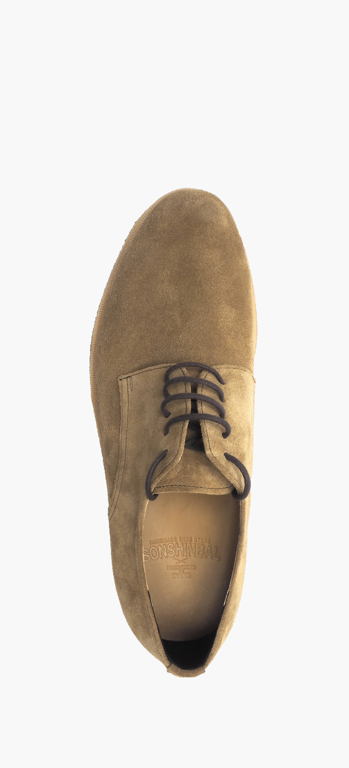 Plain Toe 2054-09-Deep Beige Suede