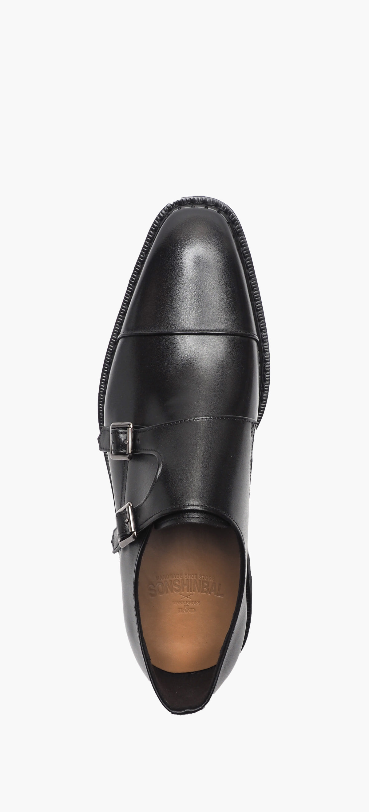 Monk Strap 8031-11 Black Kip