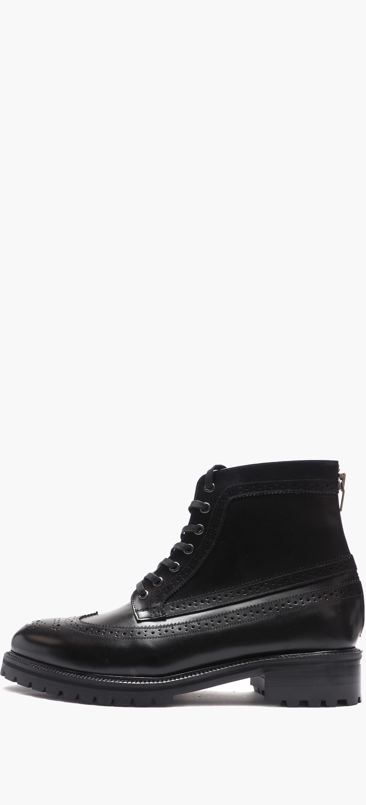 Wing Tip Boots 2246-01 Black Kip 20%Sale