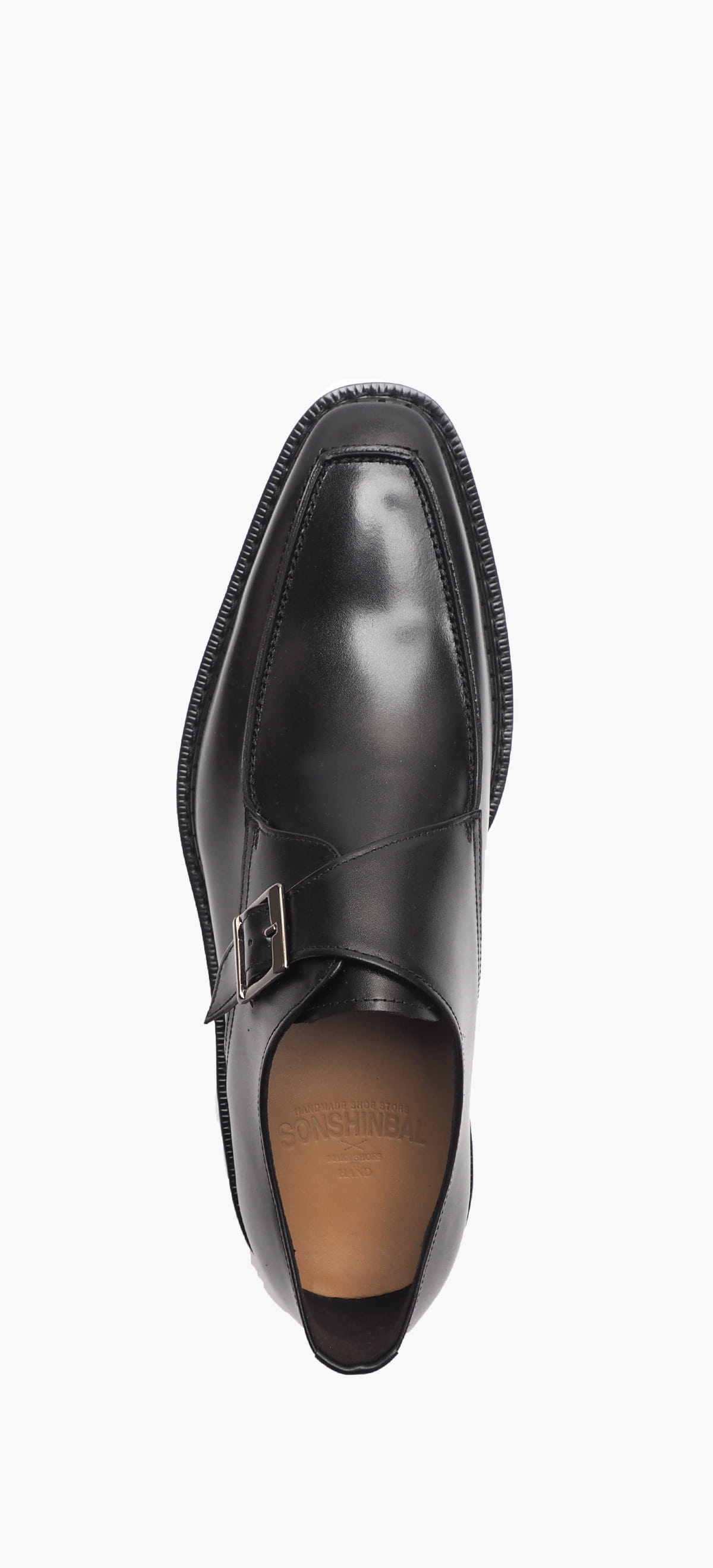 Monk Strap 4015-02 Black Kip